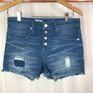 Mossimo Denim High Rise Patchwork Shorts Size in.
